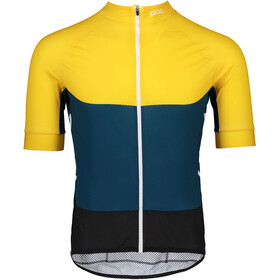 POC Essential Road Bike Jersey Shortsleeve Men yellow/teal